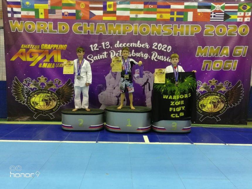 Кыштымские спортсмены стали призёрами чемпионата мира по грэпплингу