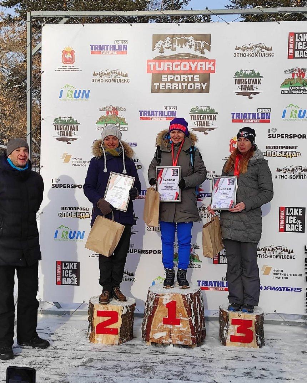 Жительница Кыштыма стала бронзовым призёром кроссового забега на озере Тургояк
