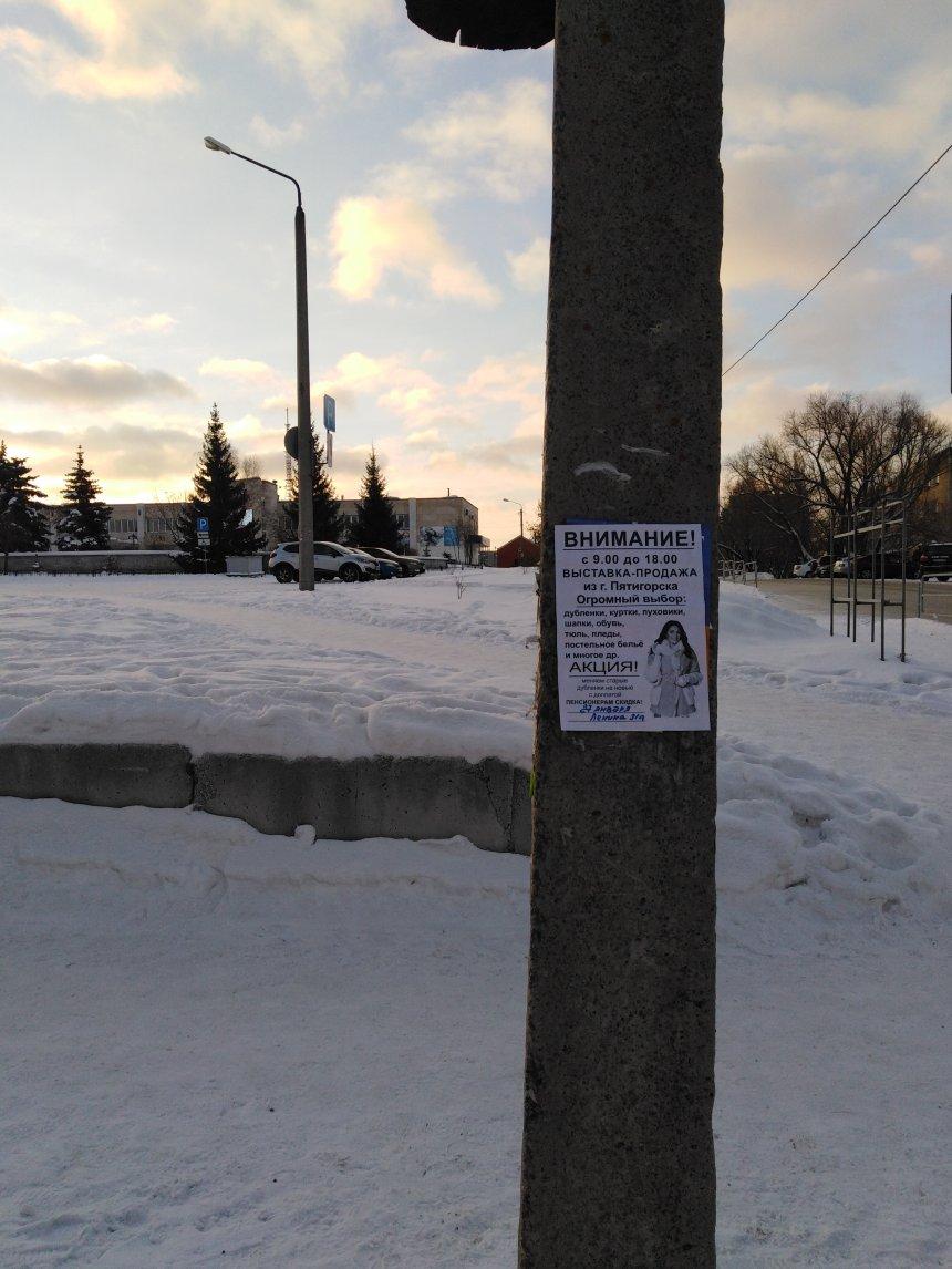 В Кыштыме жительницу Тамбовской области оштрафовали за расклейку объявлений на столбах