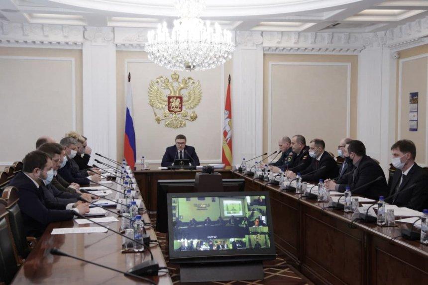 Губернатор Алексей Текслер провёл заседание комиссии по предупреждению и ликвидации ЧС