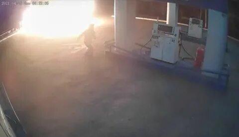 Житель Кыштыма, устроивший поджог на АЗС, находится в больнице с травмами