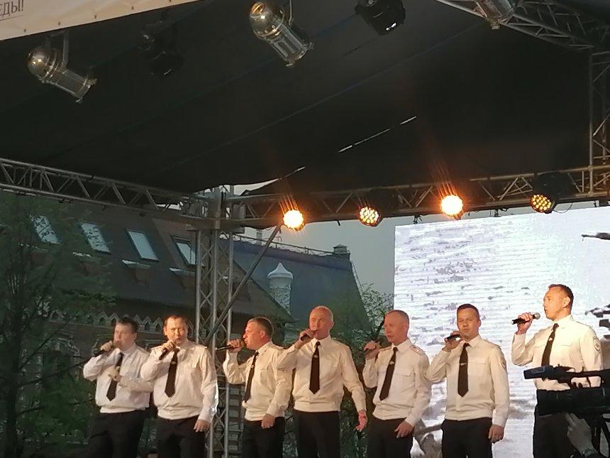Кыштымская «Баллада» выступила в День Победы на Кировке в Челябинске