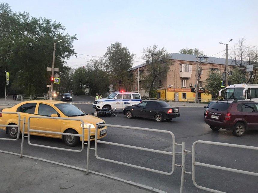 В Кыштыме произошло ДТП с участием мотоциклиста