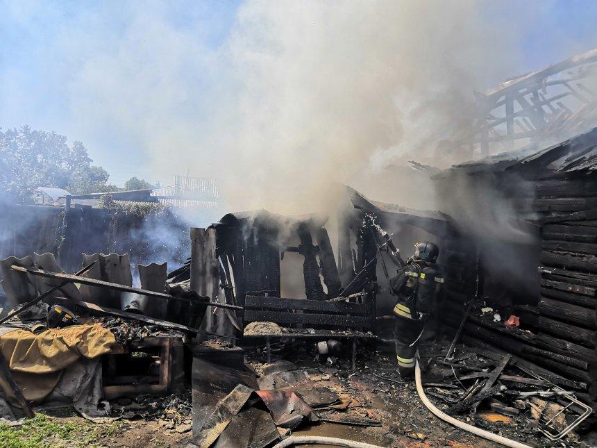 В Кыштыме сегодня горел жилой дом на улице Герцена